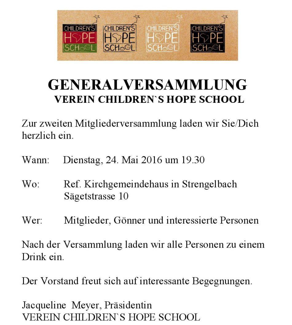 GENERALVERSAMMLUNG 2016 EINL-001